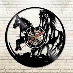 Horse Rider Vinyl Wall Clock Playroom Ideas For Girl And Boy