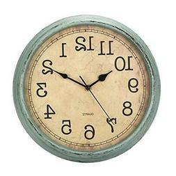 HYLANDA 12 Inch Vintage/Retro Wall Clock, Silent Non-Ticking