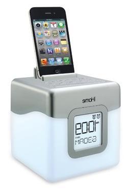 iHome IHM28W2 Color Changing Alarm Clock FM Radio with USB C