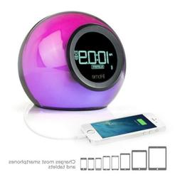 iHome iBT29BC Bluetooth Color Changing Dual Alarm Clock FM R