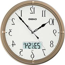 Casio Ic-02-9 Wall Clock with Day and Date Analog Digital Di