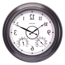 AcuRite 75133M LED Illuminated Outdoor Clock with Temperatur