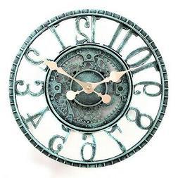 Lilyshome Indoor or Outdoor Wall Clock Steampunk Gear Cog De