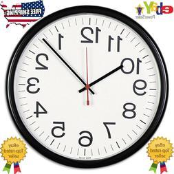 Universal Indoor/Outdoor Clock, 13 1/2-Inch, Black  Analog W