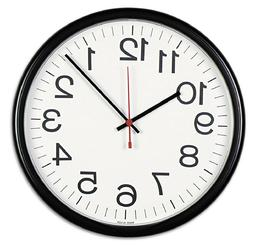 Universal Indoor/Outdoor Clock 13 1/2-Inch Black  Analog Wal