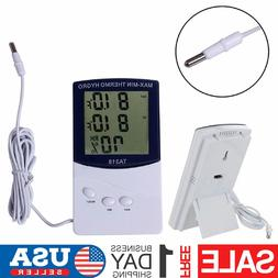 Indoor Outdoor Thermometer LCD Digital Hygrometer Temperatur
