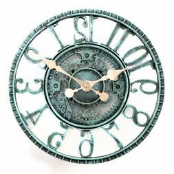 Lilyshome Indoor Outdoor Wall Clock Steampunk Gear Cog Desig