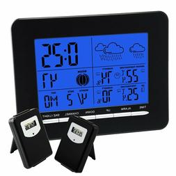Indoor/Outdoor Wireless Weather Station with 2 Sensors Tempe