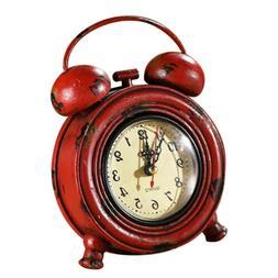 Industrial Rustic Decorative Clock Table Clock Desk Clock Ta