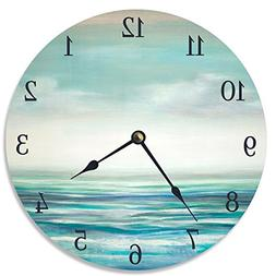 Stupell Industries Serene Waters Vanity Clock, Proudly Made