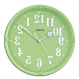 Casio Iq-62-3 Wall Clock with 10 Inches Thinline Quartz Ligh