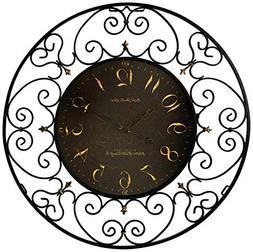 Jayla Oak Wall Clock with Westminster Chime