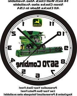 Muscle Car Memories John Deere S670 Combine Wall Clock-Free