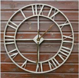 Jonart Design Rustic Large Garden Wall Clock 76cm Metal Outd