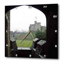 3dRose Jos Fauxtographee- Cardiff Wales View to Castle - A V