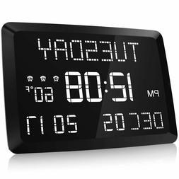 "Jumbo Digital Clock 11.5"" Large Display Easy Read Day Time f"