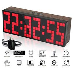 Jumbo LED Snooze Wall Desk Alarm Clock LARGE Count Down Time