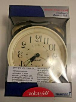 keywound alarm clock ardmore twin bell 15396