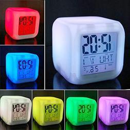 Scenstar Kids Clock Digital Alarm clocks 7 Colors Changing D