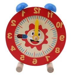 Clock Educational Colorful Wooden Clock for Baby Girls Toddl