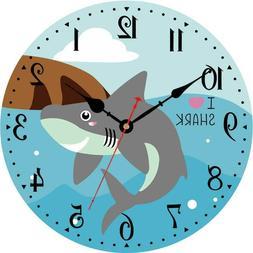 Vikmari Kids Wall Clock,14 Inch Silent Non-Ticking Quartz Ba