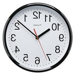 "Plumeet Kids Wall Clock, 10"" Silent Non Ticking Quality Quar"