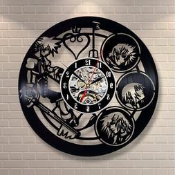 Kingdom Hearts Vinyl Wall Clock Room decor For Girls Guys Ga