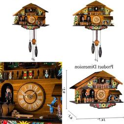 Kintrot Cuckoo Clock Pendulum Quartz Wall Clock Black Forest