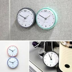 Kitchen Bathroom Bath Shower Waterproof Clock Suction Cup Su