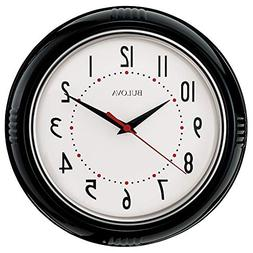 "Bulova Kitchen Plus 9"" Analog Quartz Quiet Sweep Wall Clock"
