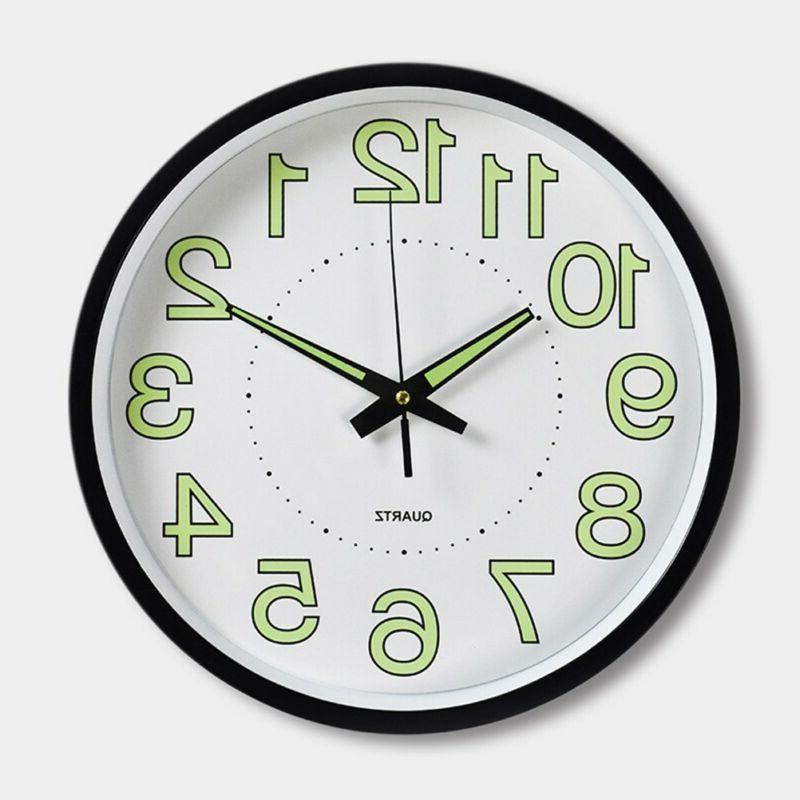 12 Wall Clock Luminous Wall Clocks