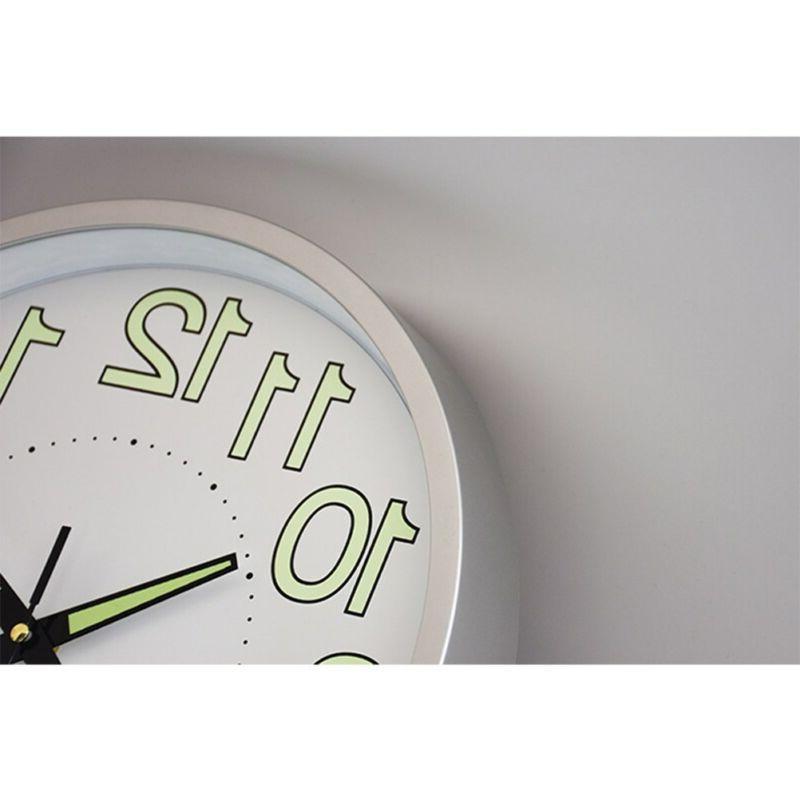 12 inch Glow Dark Wall Clock Silent Luminous Clocks