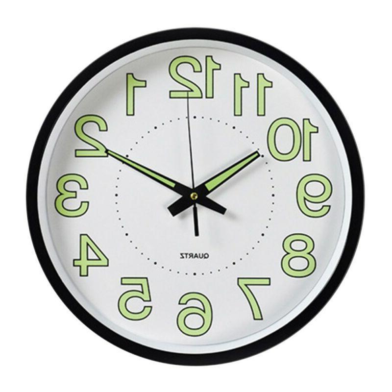 12 Glow Wall Luminous Classic Night Clocks US