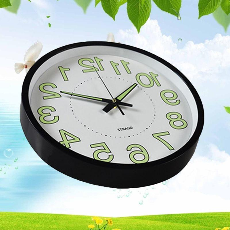 12 inch Dark Wall Clock Luminous Wall Clocks