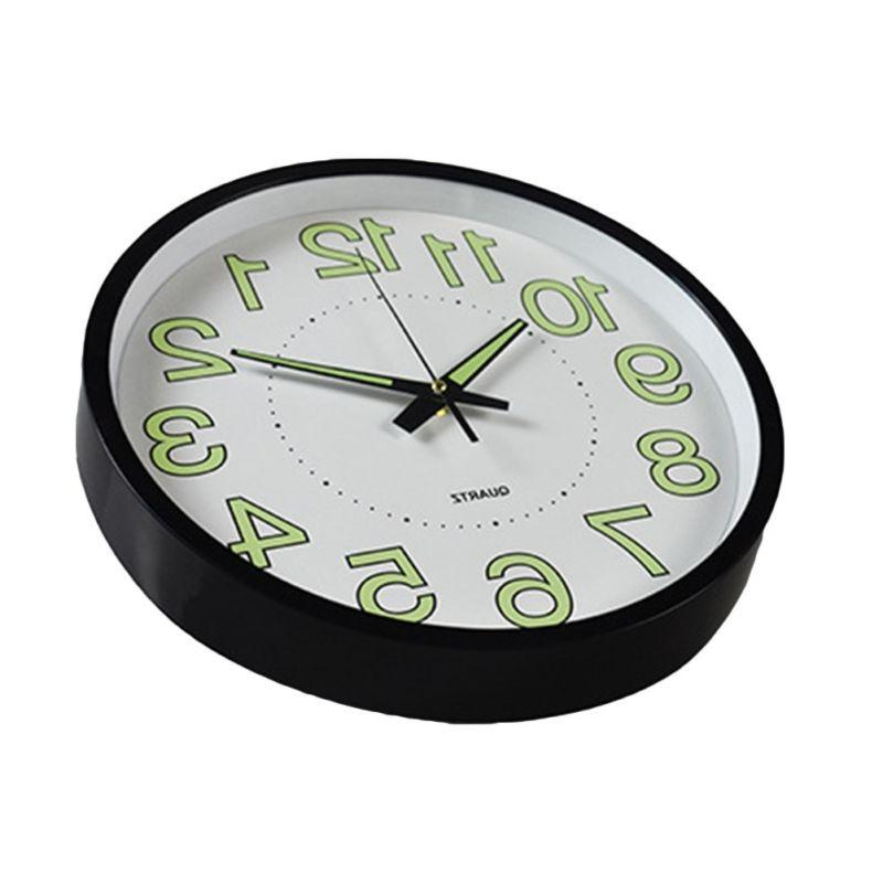 12 inch Glow Wall Clock Luminous Wall Classic Night Clocks US