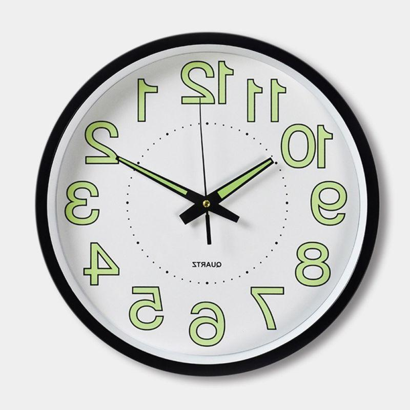 12 Wall Clock Luminous Wall Clocks