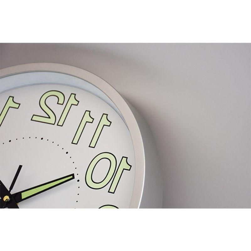 12 inch Glow Dark Wall Clock Silent Luminous Clocks