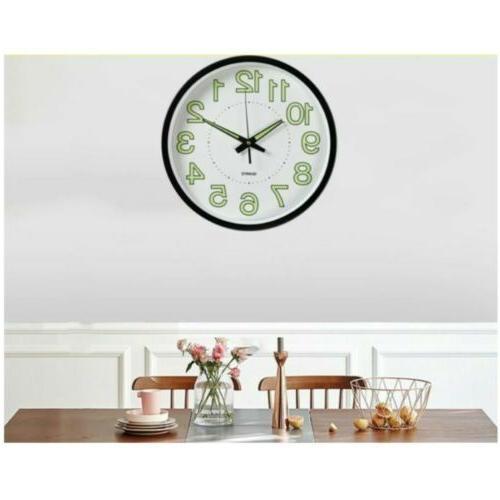 Luminous 12 Wall Quartz Bedroom Office Clocks