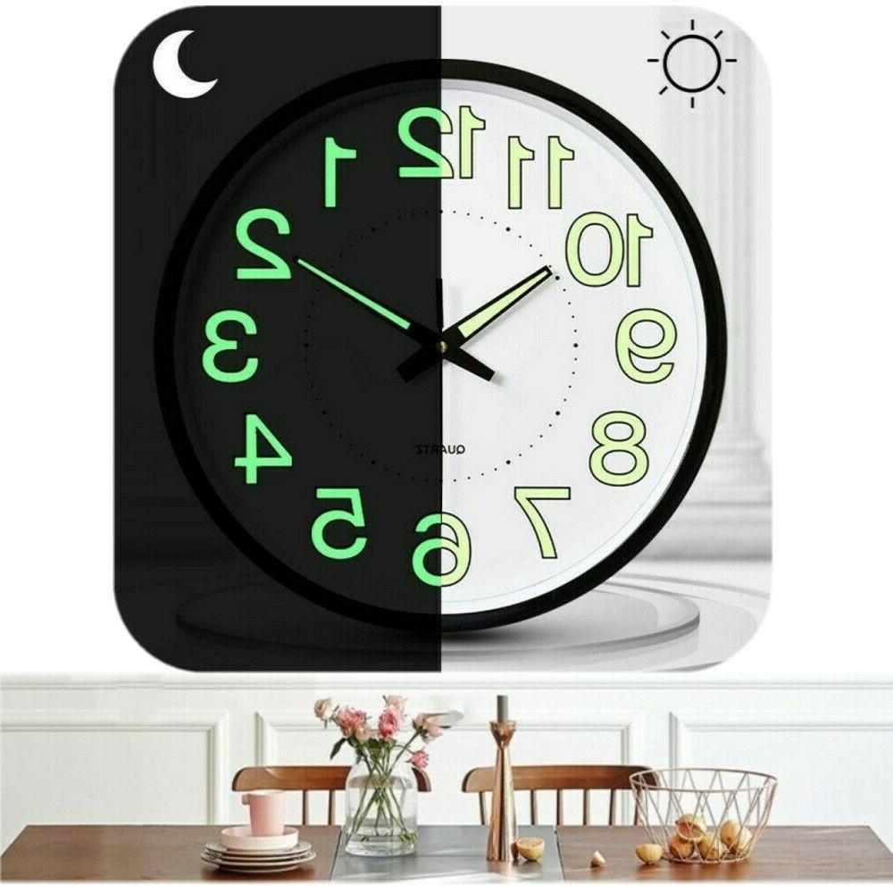 Luminous Glow 12 Inch Wall Clock Quartz Office Clocks