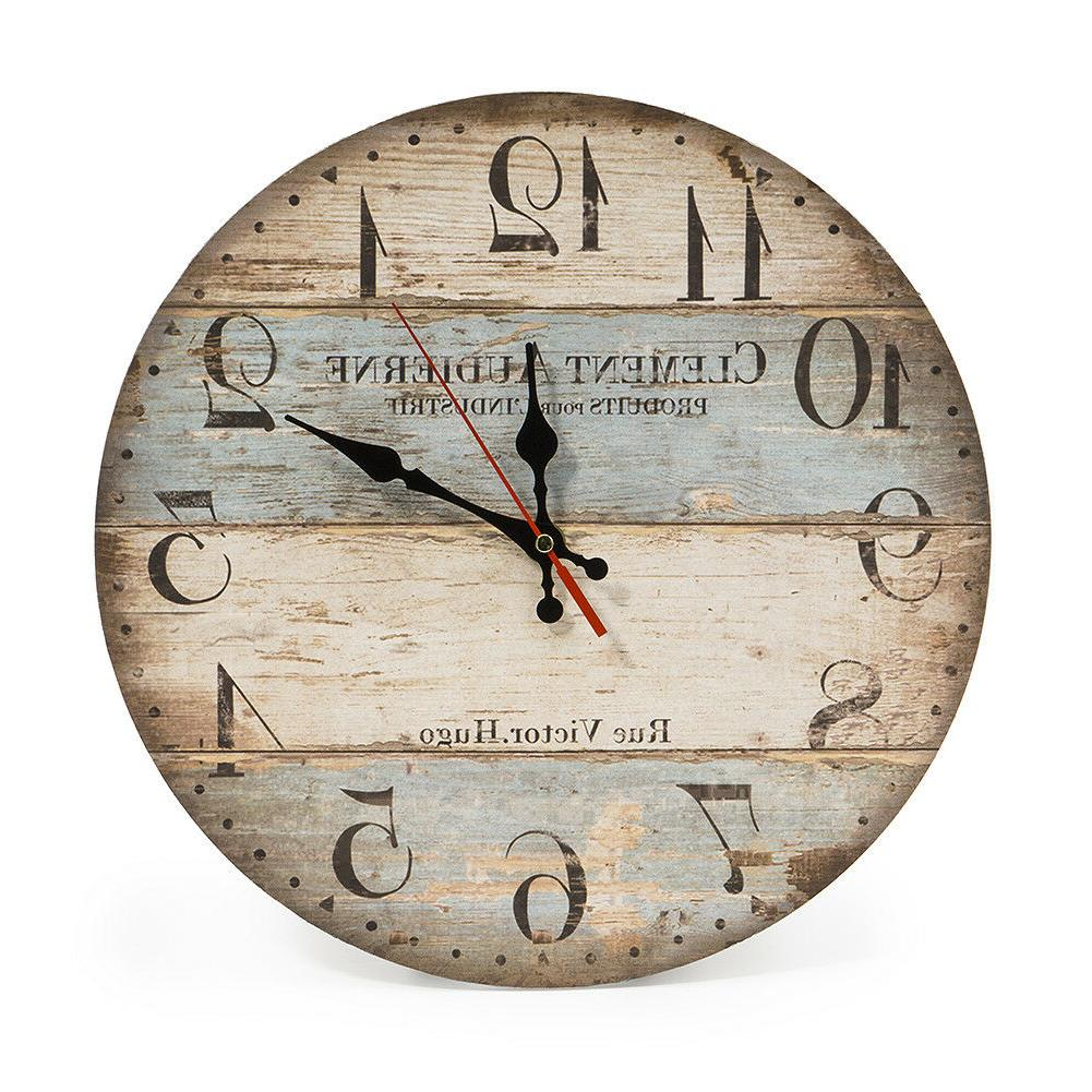 12 inch vintage wall clock rustic decor