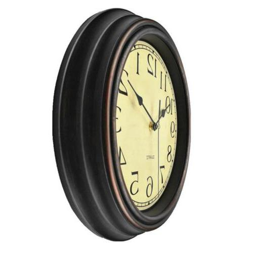 12 inch silent non ticking round classic