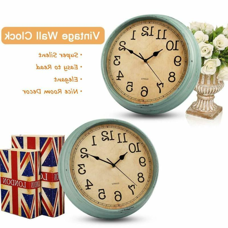 Hylanda 12 Wall Clock, Silent Quartz Decorative W