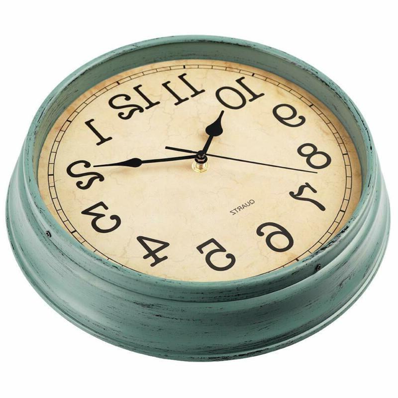 Hylanda 12 Inch Vintage/Retro Wall Clock, Silent Non-Ticking Quartz W