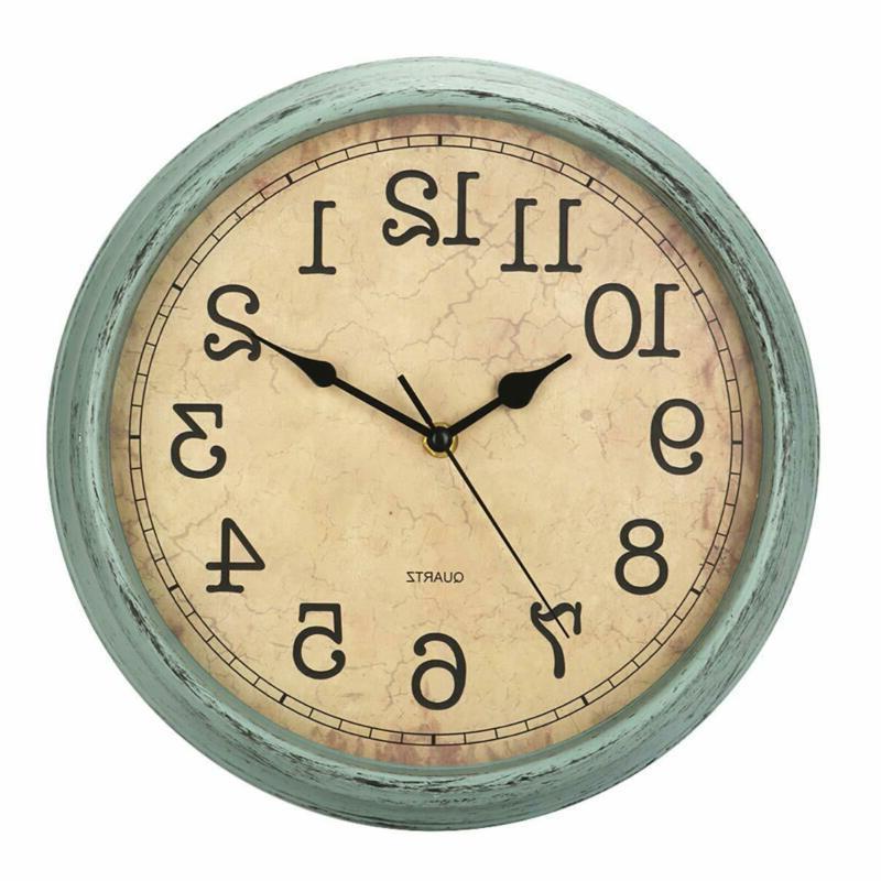 12 inch vintage retro wall clock silent
