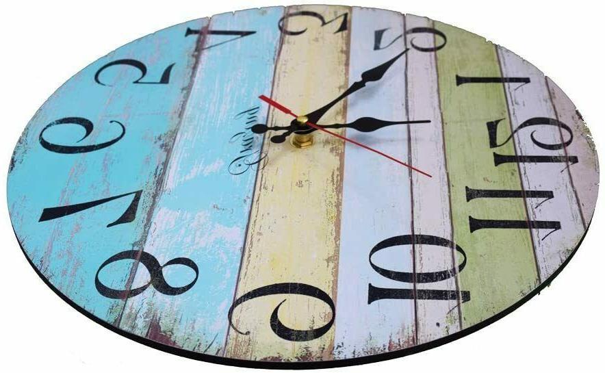 "12"" Decorative Rustic Wall Clock USA"