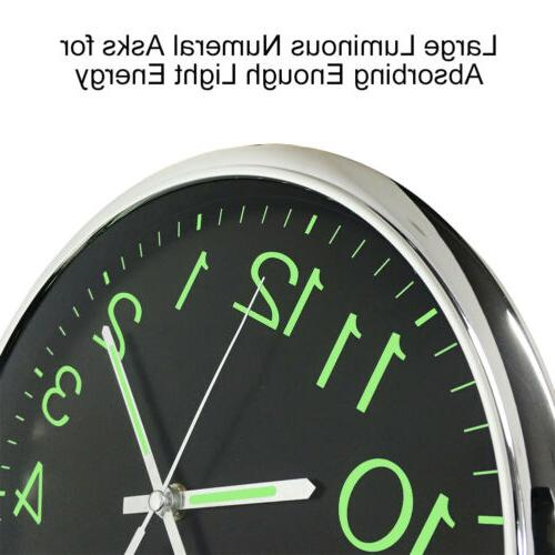 12'' Modern Non-ticking Large Wall Clock The