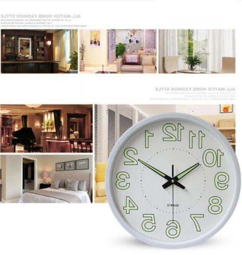 Quartz Clock Glow Silent