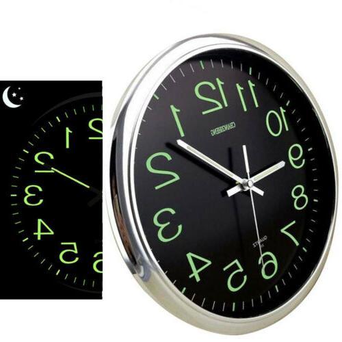 12 wall clock 30cm luminous glow in