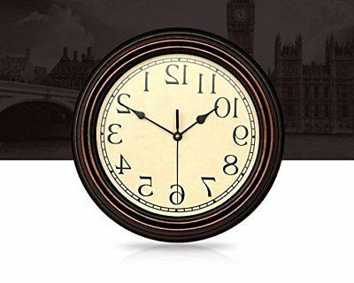 Bekith Clock Retro Non Ticking Quartz Decorative
