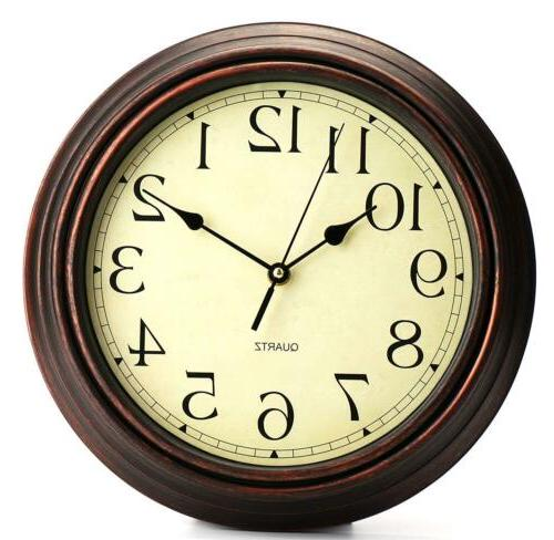Bekith Clock Non Ticking Quartz Decorative Clock